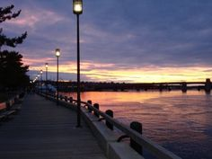 Riverwalk in Newburyport at Sunset