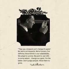 Yes. More qoutes from Tom [Hiddleston]. Because he gets it.