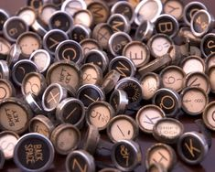Vintage typewriter keys... So much u can do!  Buttons on jeweled, jewelry, furniture knobs, and embellishments. 