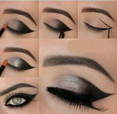 Maquillaje de ojos dramático.