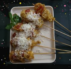 Sate Mie Lumer Cheddar, Chicken, Meat, Cooking, Food, Beef, Baking Center, Cheddar Cheese, Koken