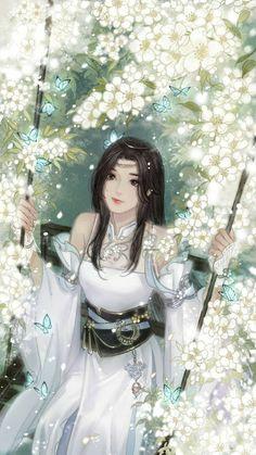 Cool Anime Girl, Beautiful Anime Girl, Anime Art Girl, Manga Art, Manga Kawaii, Kawaii Anime Girl, Chinese Drawings, Chinese Art, Art Anime Fille