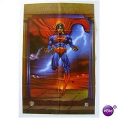 1995 SUPERMAN DC COMIC BOOK SHOP SUPERHERO PROMO POSTER Listing in the Posters,Comics,Books, Comics  & Magazines Category on eBid United States | 26484754