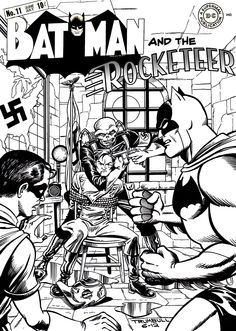 Batman, Robin, and the Rocketeer vs the Red Skull