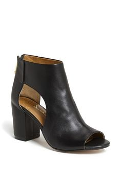 $129, Black Cutout Leather Ankle Boots: Report Signature Bryanna Cutout Bootie Black 6 M. Sold by Nordstrom. Click for more info: https://lookastic.com/women/shop_items/81866/redirect