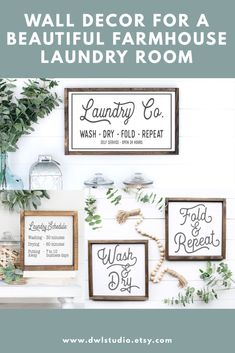 Wood Signs make perfect wall decor for a laundry room. Add farmhouse style with these wood signs. Handmade Market, Handmade Home Decor, Home Decor Items, Farmhouse Laundry Room, Farmhouse Style, Farmhouse Decor, Laundry Room Wall Decor, Laundry Rooms, Diy Classroom Decorations