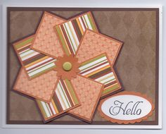 Pinwheel Card...in neutrals...lovely...