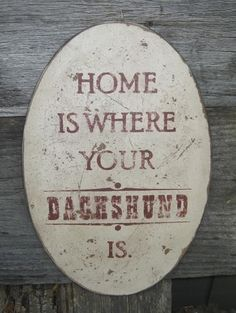 Home is where your dachshund is <3