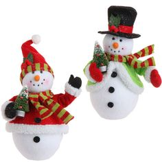 RAZ Holiday on Ice 14 inch Snowman with Trees