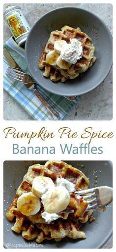 These banana pumpkin pie spice waffles are the perfect way to start ...