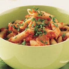 Pennette with Spicy Tomato Sauce - Add chicken and grape tomatoes (San Marzano too)...just like Strega dish
