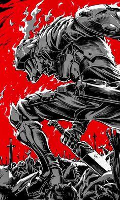 Goblin Slayer Anime Fabric Wall Scroll: Home & Kitchen Fantasy Armor, Dark Fantasy, Nail Bat, Goblin Slayer Meme, Les Gobelins, Anime Amino, Character Art, Character Design, Bakugou Manga