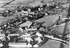 Aerial view of Clondalkin in the 1930 conor ledwith Old Images, Old Pictures, Old Photos, Ireland Pictures, Dublin Ireland, View Source, Aerial View, Historical Photos, Paris Skyline