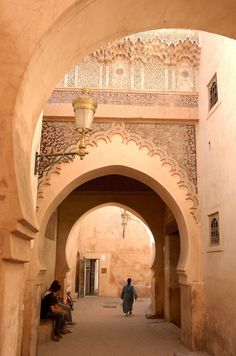 🇲🇦 Marrakech Medina near Medersa Ben Youssef Art Et Architecture, Islamic Architecture, Amazing Architecture, The Places Youll Go, Places To Visit, Riad, Morocco Travel, Marrakech Travel, Visit Morocco