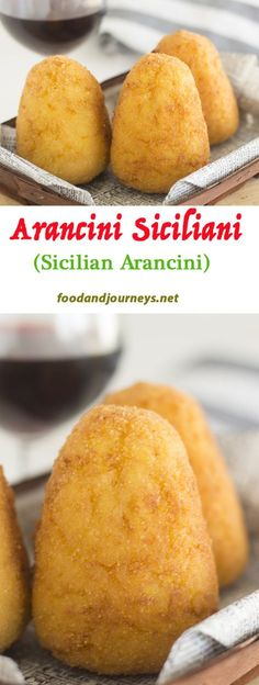 Made from leftover risotto with meat sauce filling, these are great for appetizers, snacks or even for a light (and quick) meal! Wine Recipes, Cooking Recipes, Dishes Recipes, What's Cooking, Italian Street Food, Sicilian Recipes, Sicilian Food, Gluten Free Puff Pastry, Gastronomia