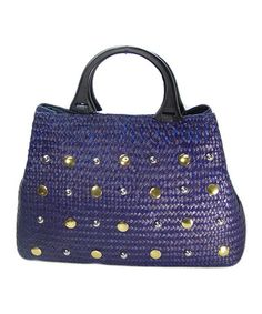 Another great find on #zulily! Purple Studded Satchel #zulilyfinds