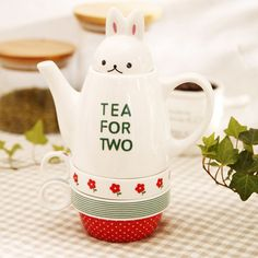 Free shipping Rabbit teapot set cup set pot cup set ceramic teapot zakka Coffee tea cup  $21.18