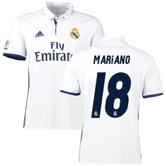 free shipping 46b4e b1b16 Mariano Real Madrid adidas 2016 17 Home Replica Jersey - White Casemiro  Real Madrid,