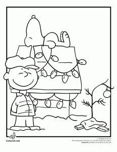 charlie brown christmas coloring pages - photo#24