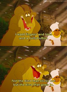 ThePrincessAndTheFrog: i want fingers and toes and a belly button.