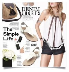"""""""Yoins"""" by yexyka ❤ liked on Polyvore featuring Sigma Beauty, Max Factor, Stila, jeanshorts, denimshorts, cutoffs, yoins and yoinscollection"""