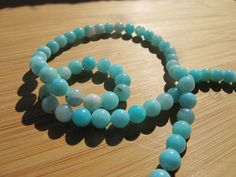 Blue Opal Beads Peru by SheEarth on Etsy, $96.00