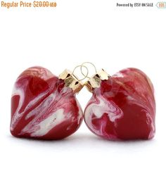 Holiday gift idea!  Beautiful garnet and gold glass heart ornaments hand painted inside by Jennifer D Burrell.  No two ornaments will ever be exactly the same.  A keepsake for years to come!  Click image to purchase.