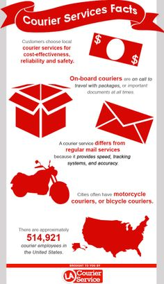 Cities often have motorcycle couriers, or bicycle couriers.