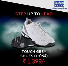 Men's Touch Grey Shoes (T-064)