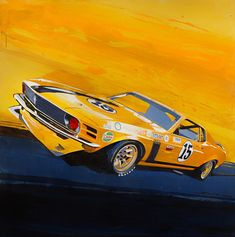 1965 Ford Mustang Sketch Hand Drawn Cars Mustang
