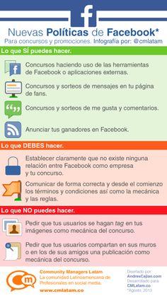 Nuevas políticas de concursos en #Facebook #infografia #infographic #socialmedia