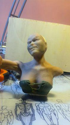 Harley Quinn bust sculpted W.i.p.