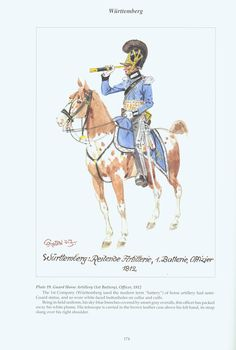 The Confederation of the Rhine - Württemberg: Plate 19. Guard Horse Artillery (1st Battery), Officer, 1812