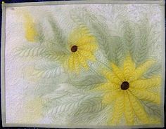 Lovely daisy look. small quilt