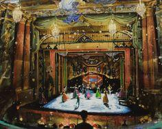 Dancers Warming Up, Versailles by Gerard Gauci Nostalgia Art, Theatres, Versailles, Dancers, Painting, Theater, Dancer, Painting Art, Paintings