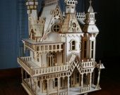 Spectacular laser cut Victorian dollhouse components and instructions.  Etsy: VictorianDollhouse