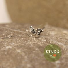 CARTILAGE french bird sterling silver/ cartilage by StudsEarrings, $13.95