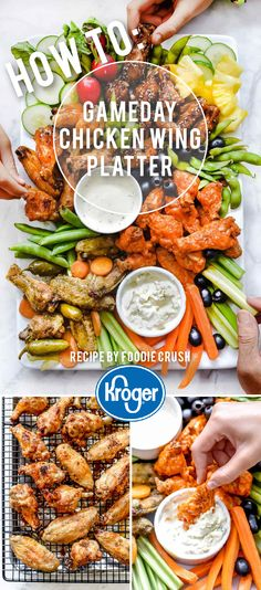 Crowd-pleasing wings - multiple ways! Get game day ready! Hoisin Chicken, Crispy Baked Chicken Wings, Healthy Superbowl Snacks, Tailgating Recipes, Hoisin Sauce, Chicken Wing Recipes, Football Food, Football Parties, Game Day Food