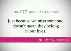 Rule of a relationship Relationship Rules, Relationships, Missing Someone, Word 3, I Wish I Had, Writings, Our Life, Breakup, Stupid