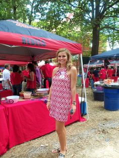 Ole Miss Football Red Home game day color Sept 27, 2014 Ole Miss vs Memphis