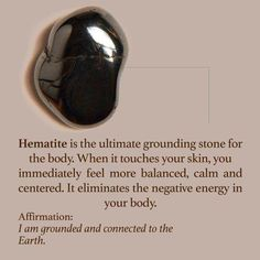 Hematite for the Root Chakra