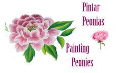 Pintar peonias,  painting peonies