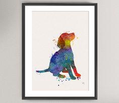 BEAGLE DOG Nº1 Watercolor Art Print - Animal dog pupy Ink Painting illustrations Art Print 8x10 Wall Art Poster Giclée Wall Decor Art Home