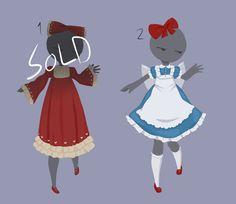 Simple outfit design adopts [OPEN 1/2] by MantaTheMisukitty.deviantart.com on @DeviantArt