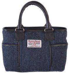 Harris Tweed, Oslo, Designer Handbags, Hand Weaving, Pure Products, Navy, Shopping, Clothes, Women