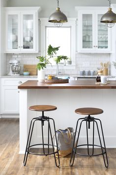 Get everything to refresh your kitchen for fall, the easy way. Find bar stools, accent furniture, & more at Walmart. Kitchen Redo, Home Decor Kitchen, New Kitchen, Home Kitchens, Kitchen Remodel, Kitchen Dining, Kitchen Ideas, Walmart, My New Room