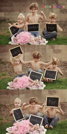 older brothers baby sister we'll protect her chalkboard signs 1