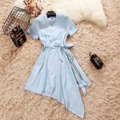 Dressy Dresses, Simple Dresses, Dress Outfits, Casual College Outfits, Stylish Outfits, Korean Girl Fashion, Muslim Fashion, Summer Fashion Outfits, Fashion Dresses