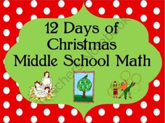 math worksheet : christmas math for middle school from la nettemark on  : Holiday Math Worksheets Middle School