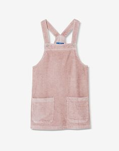 Corduroy A-line pinafore dress - Sale favourites - Clothing - Woman - PULL&BEAR Portugal
